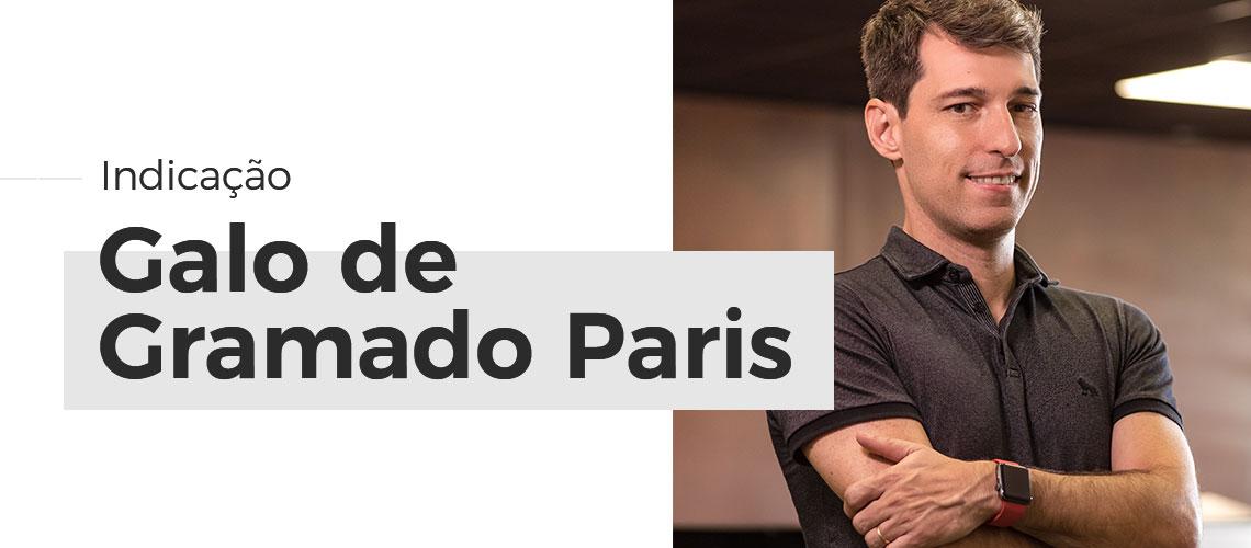 """Raul Audi é indicado para receber o Troféu """"Galo de Gramado Paris"""""""